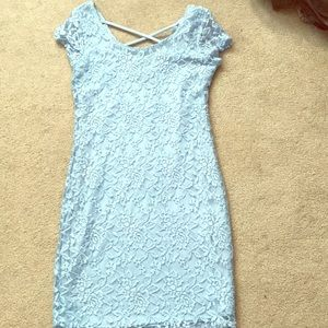 Dresses & Skirts - Light blue lace dress.